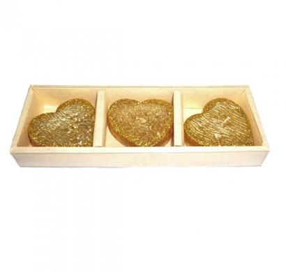 Heart Floating Candle Set of 3