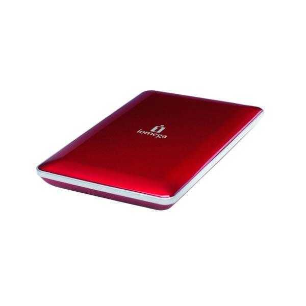 Iomega eGo Mac Edition 500 GB USB 2.0/FireWire 400/800 Portable External Hard Drive 34674 (Ruby Red)