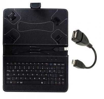 keyboard case ambrane a3-7 plus duo (black)with otg cable