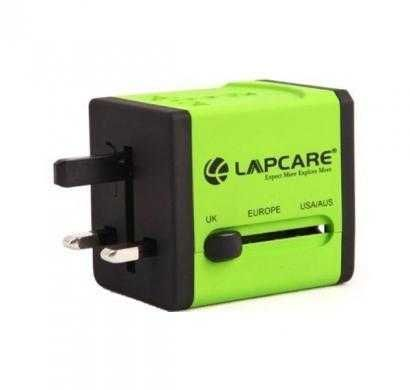 Lapcare World Travel Adaptor with Dual USB -Global Trotter (Green)