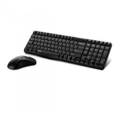 Rapoo X1800 Wireless Keyboard and Mouse Combo (Black)