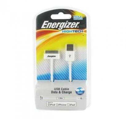usb data+charge cable for iphone / ipod / ipad - white