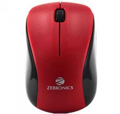 zebronics surf usb (wired) optical mouse (red)