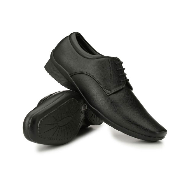 Blanc PURU-710600BM0008 Derby Artificial Leather Black Formal Shoes
