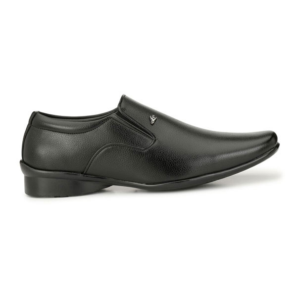 Blanc PURU-710300BM0007/ Slip On/ Artificial Leather/ Size 7/ Black/ Formal Shoes