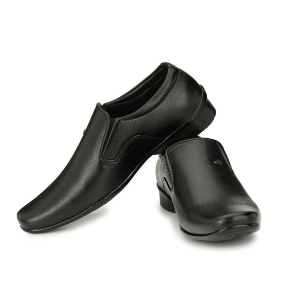 Blanc PURU-710300BM0009/ Slip On/ Artificial Leather/ Size 9/ Black/ Formal Shoes