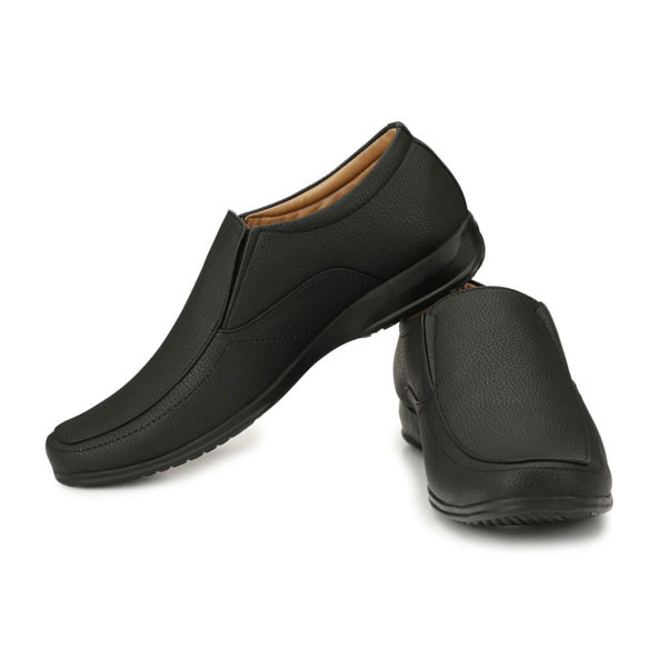 Blanc PURU-720500BM007/ Slip On / Artificial Leather/ Size 7 / Black/ Formal Shoes