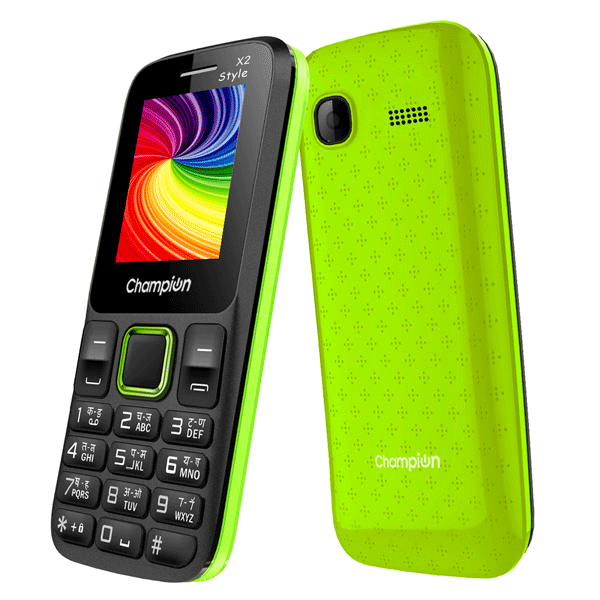 Champion X2 Style Feature Phone With Powerfull Capacity Black-Green