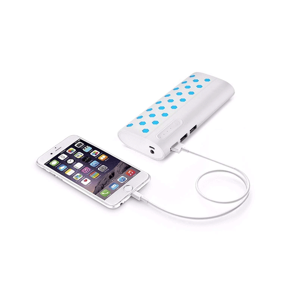 DEBOCK 10000mAh Universal Power Bank with Battery Pack (White)