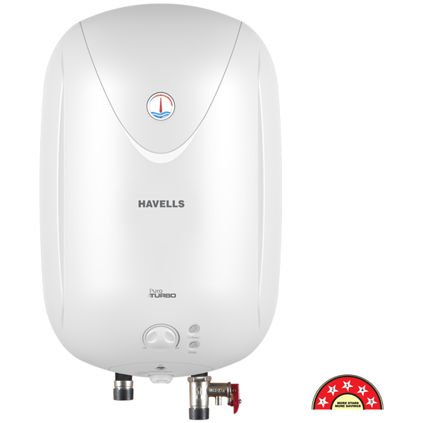 Havells - GHWAPTTWH025, 25 Ltr White Puro Turbo Storage Water Heater, 1 Year Warranty