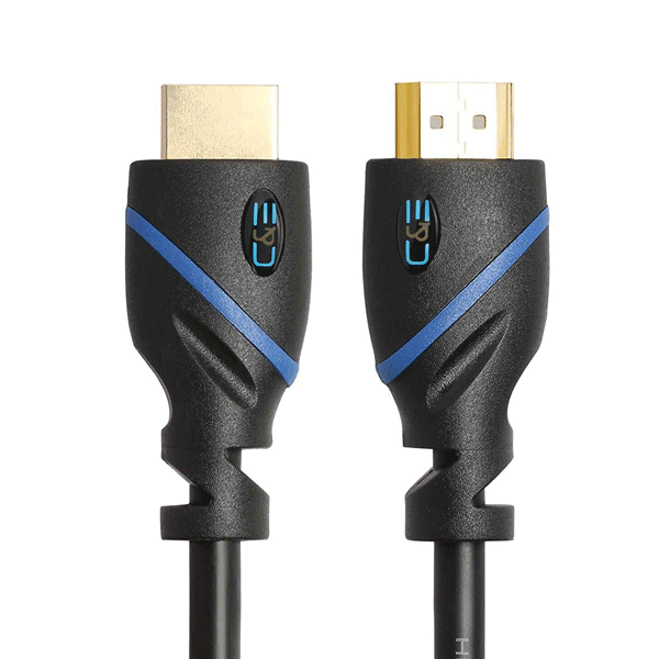 C&E High Speed HDMI Cable, (1.5 Feet), Supports Ethernet, 3D and Audio Return, UltraHD 4K Ready, Latest Specification Cable Black