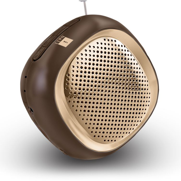 iBall- Musi Cube BT20, Bluetooth Speaker, Gold,1 Year Warranty