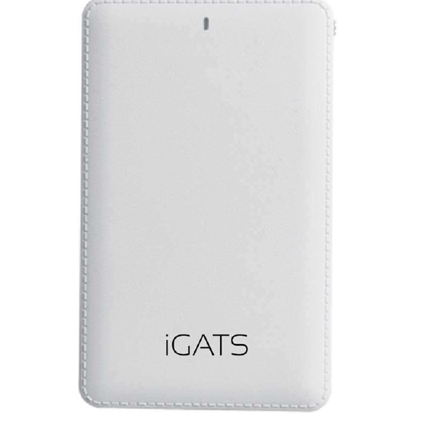 iGATS 5000 mAh Credit Card Power Bank, White