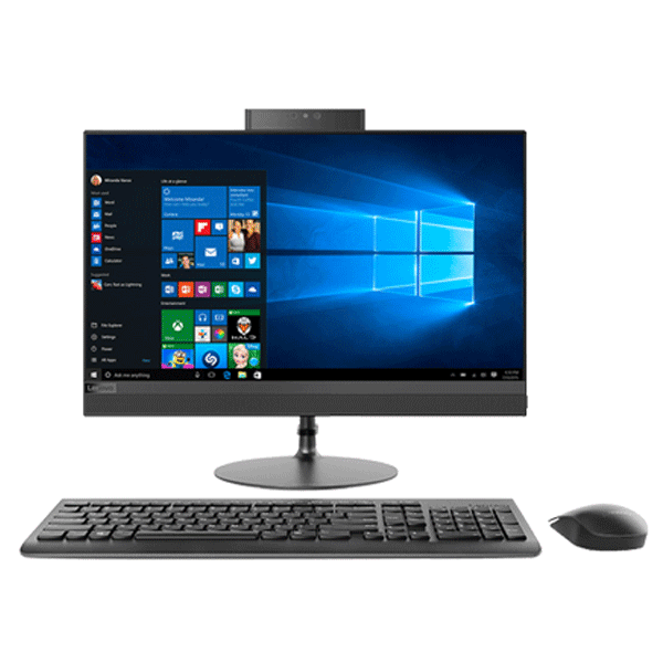Lenovo 520 22IKU F0D500BTIN/CSIN (Intel Core I3 7020U/ 4GB RAM /1TB HDD / Slim DVD RW / DOS / WIFI / HDMI/ Camera / Speaker / 21.5 inch FHD Borderless / Wireless Keyboard and Mouse / Black