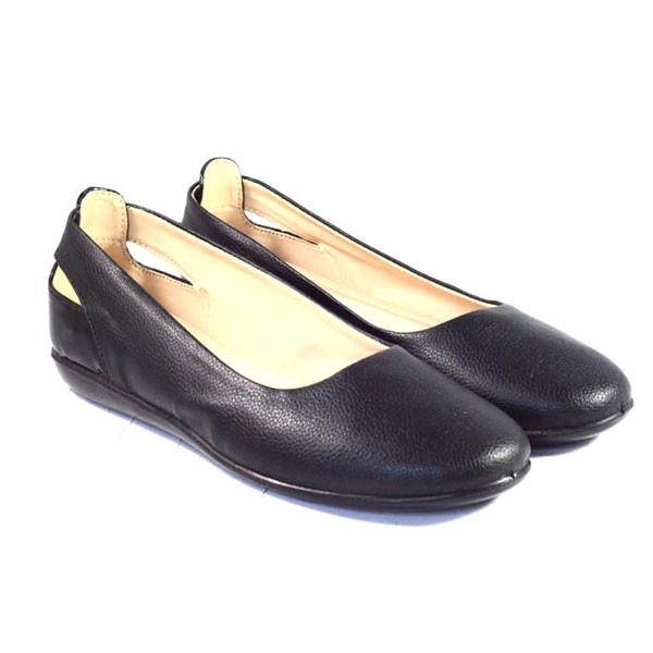 POKROK Women Pu Stylish Belly Shoes (number1) Black