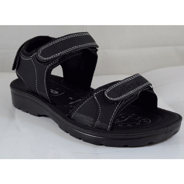 PU Hills Size 6 To 9 Men Sandal Black