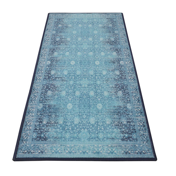 Rugsmith (RS000046) RUGS & CARPETS Warn Blue Color Premium Qualty TRADITIONAL Pattern Polyamide Nylon LEGACY RUG Runner(Size Standard)