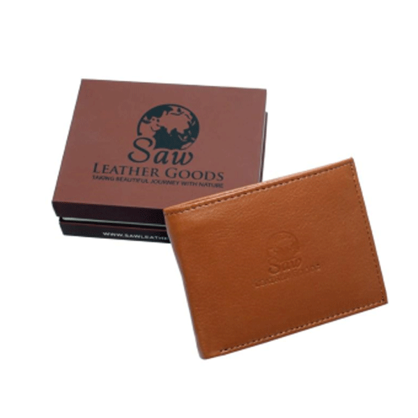 Saw 012 leather Wallet Brown