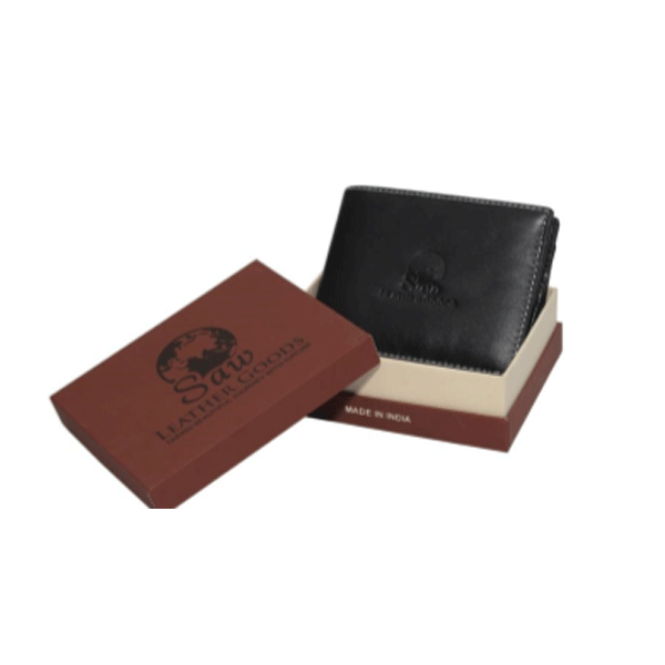 Saw 015 leather Wallet Black