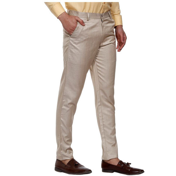Shaurya-F Slim Men Fit Trousers (Beige)