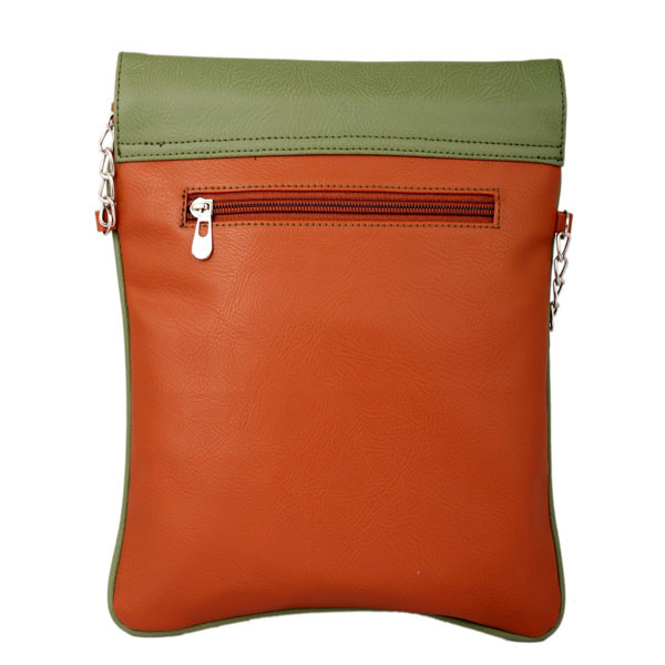 Spice Art Green Tan Leatherite Slingbag