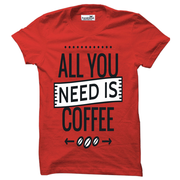 TrendzWinG TW009 Coffee Lover T-shirt Red